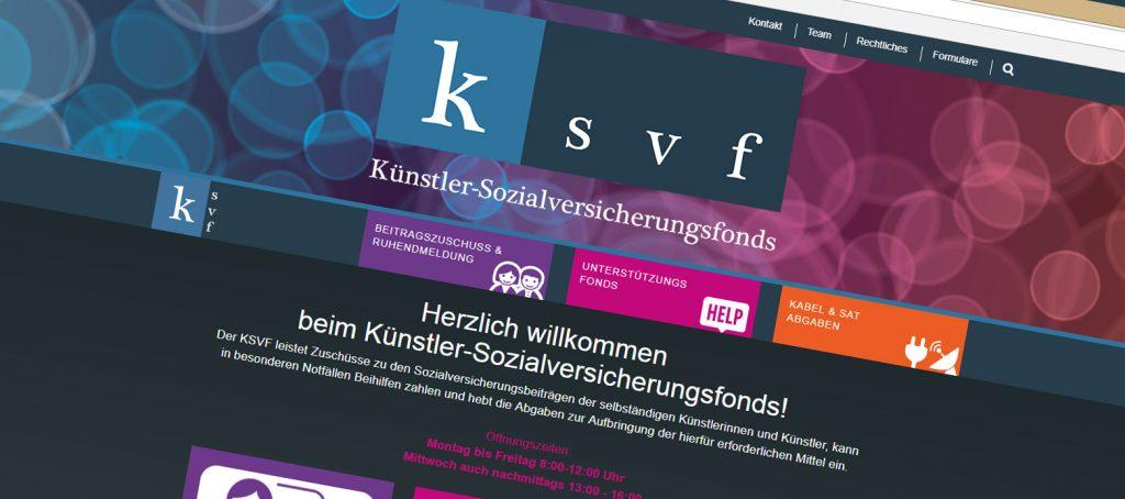 Screenshot der KSVF Homepage