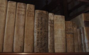Old Books in a museum in Venice
