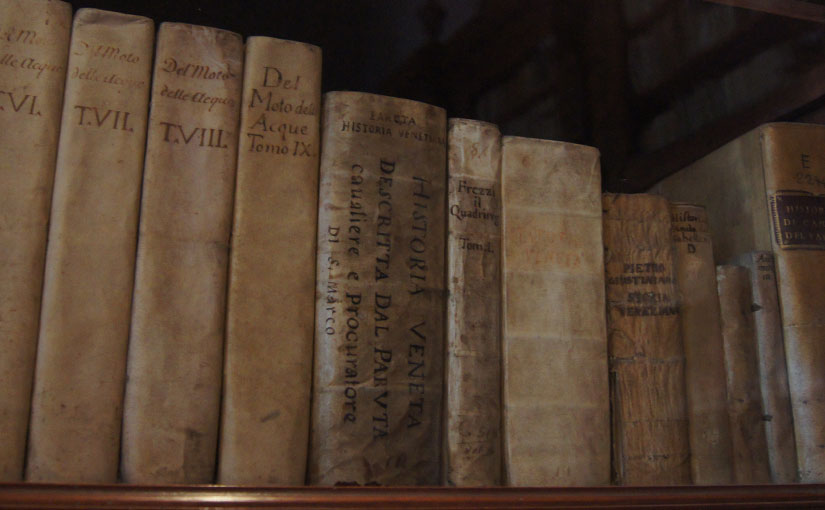 Old Books in a museum in Venice