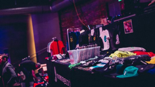A local clothing pop-up store at an event