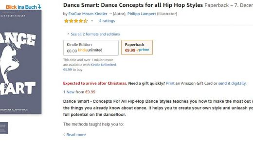 Dance Smart is now available on Amazon