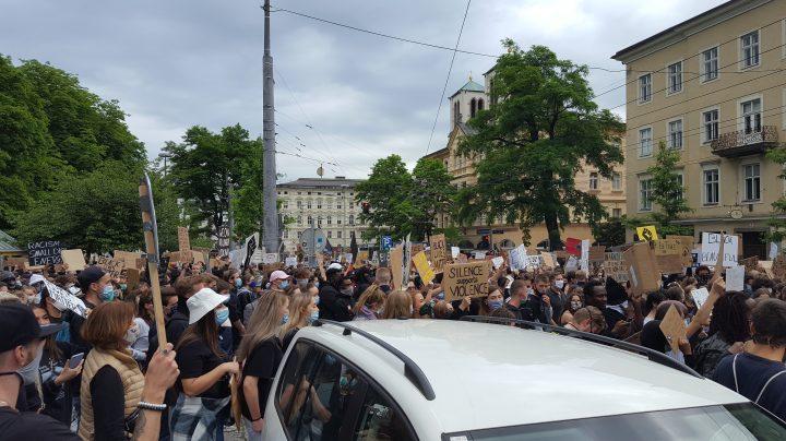 #blacklivesmatter protests in Salzburg/Austria