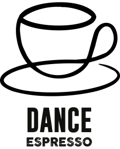 The official Dance Espresso logo from FraGue Moser-Kindler.